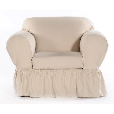 Chair Skirted Slipcover Upholstery: Khaki