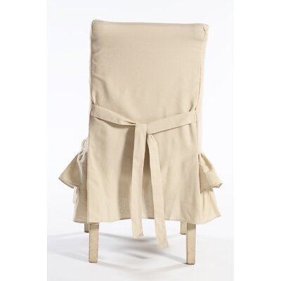 Chair Skirted Slipcover Upholstery: Khaki