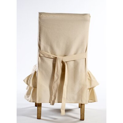Chair Skirted Slipcover Upholstery: Natural