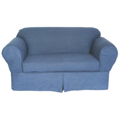 Skirted Box Cushion Sofa Slipcover Size: Loveseat (72 W)