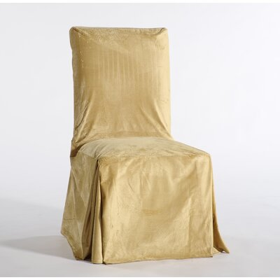 Royal Dining Chair Skirted Slipcover Upholstery: Gold
