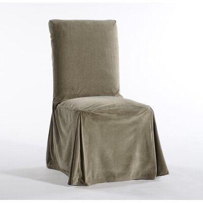 Royal Dining Chair Skirted Slipcover Upholstery: Moss