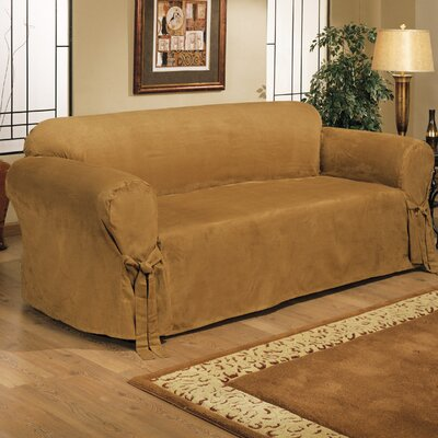 Chic Box Cushion Loveseat Slipcover Color: Cappuccino