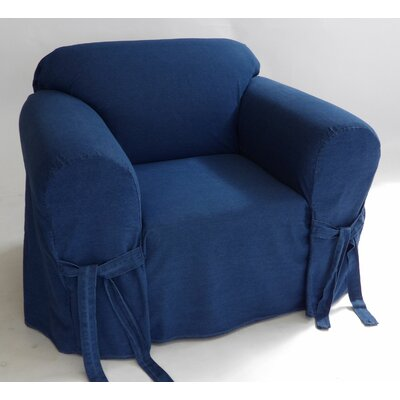 Authentic Box Cushion Armchair Slipcover