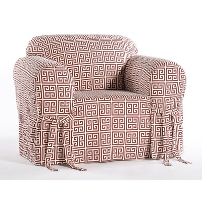 Angel Box Cushion Armchair Slipcover Color: Red/Cream