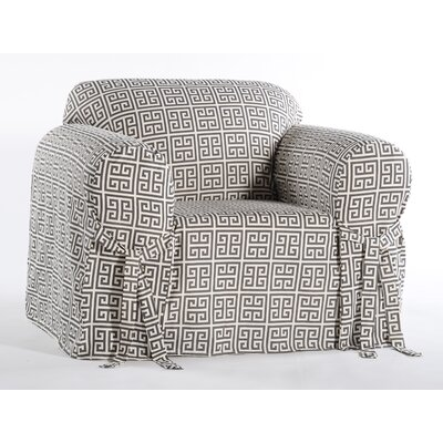 Angel Box Cushion Armchair Slipcover Color: Gray/Cream