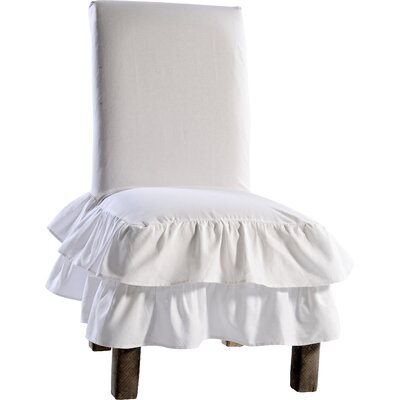Chair Skirted Slipcover Upholstery: White