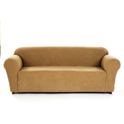 Box Cushion Sofa Slipcover Upholstery: Cappuccino