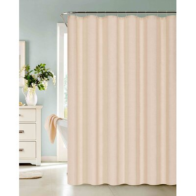 Allbright Cotton Blend Shower Curtain Set Color: Ivory, Size: 72 H x 72 W