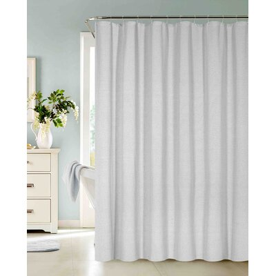 Allbright Cotton Blend Shower Curtain Set Color: Silver, Size: 72 H x 72 W