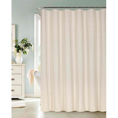 Allbright Cotton Blend Shower Curtain Set Color: Natural, Size: 72 H x 72 W