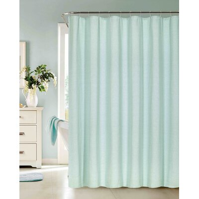 Allbright Cotton Blend Shower Curtain Set Color: Seafoam, Size: 72 H x 70 W