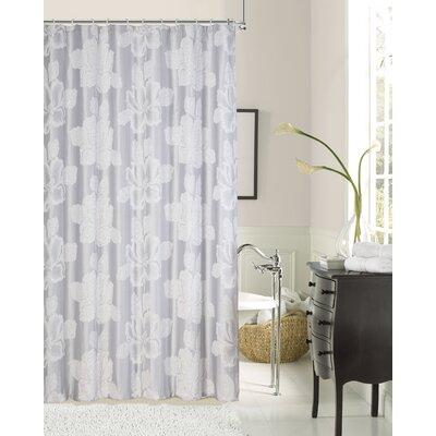 Aya Flower Fabric Shower Curtain