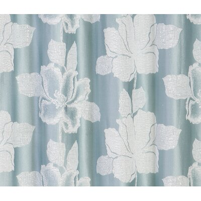 Aguila Floral Textured Shower Curtain Color: Blue