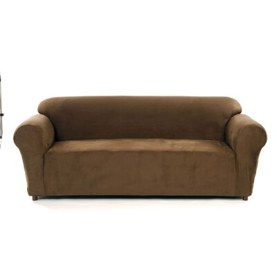 Ellen Tracy Slipcovers Chamois Stretch Sofa Slipcover - Color: Chocolate at Sears.com