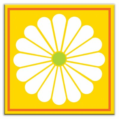 Folksy Love 6 x 6 Satin Decorative Tile in Daisy May Yellow
