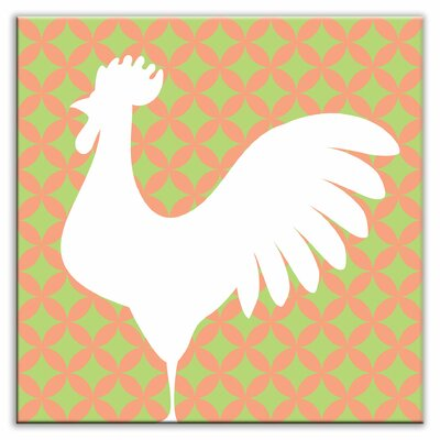 Folksy Love 4-1/4 x 4-1/4 Glossy Decorative Tile in Doodle-Do Pink Left