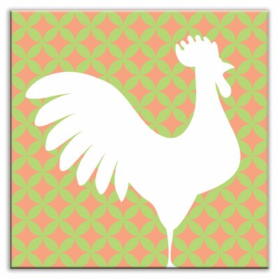 Folksy Love 6 x 6 Satin Decorative Tile in Doodle-Do Pink Right