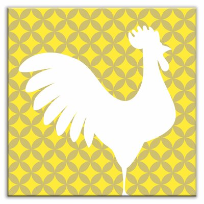 Folksy Love 6 x 6 Glossy Decorative Tile in Doodle-Do Yellow Right