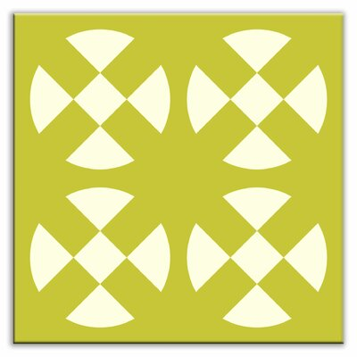 Folksy Love 6 x 6 Glossy Decorative Tile in Hot Plates Avocado