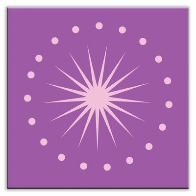 Folksy Love 6 x 6 Glossy Decorative Tile in June Light Purple