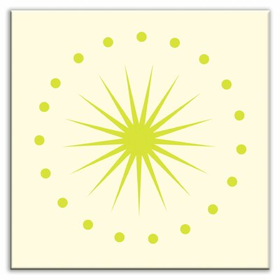 Folksy Love 4-1/4 x 4-1/4 Satin Decorative Tile in June Light Yellow Green