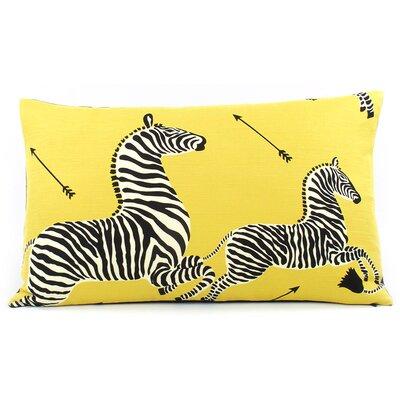 Zebra Migration Decorative Lumbar Pillow Color: Yellow