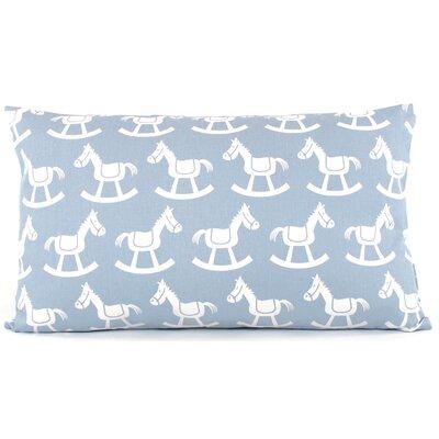 Rocking Horse Reversible Cotton Lumbar Pillow Color: Blue