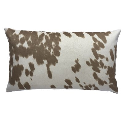 Cow Abunga Faux Cowhide Lumbar Pillow Size: 12 H x 20 W, Color: Beige