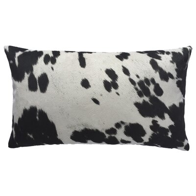 Cow Abunga Faux Cowhide Lumbar Pillow Size: 12 H x 20 W, Color: Black
