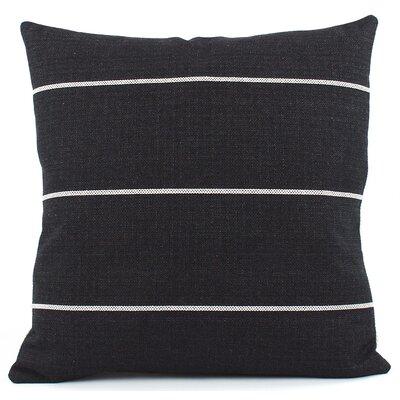 Streamline Decorative Woven Throw Pillow Color: Black