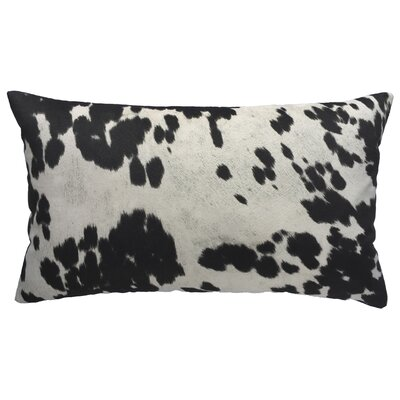 Cow Abunga Faux Cowhide Lumbar Pillow Color: Black, Size: 16 H x 26 W