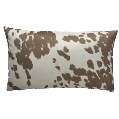 Cow Abunga Faux Cowhide Lumbar Pillow Size: 16 H x 26 W, Color: Beige