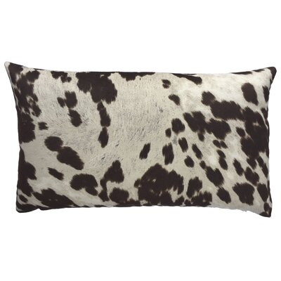 Cow Abunga Faux Cowhide Lumbar Pillow Size: 16 H x 26 W, Color: Dark Brown