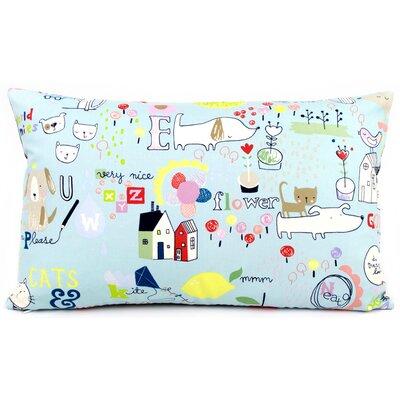 Kid Doodles Reversible Cotton Lumbar Pillow Size: 12 H x 20 W