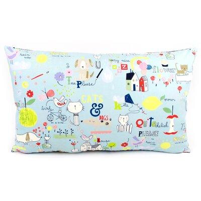 Kid Doodles Reversible Cotton Lumbar Pillow Size: 16 H x 26 W