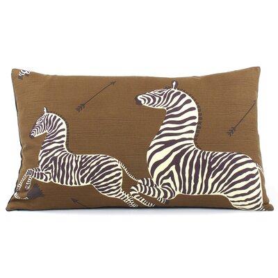 Zebra Migration Decorative Lumbar Pillow Color: Brown