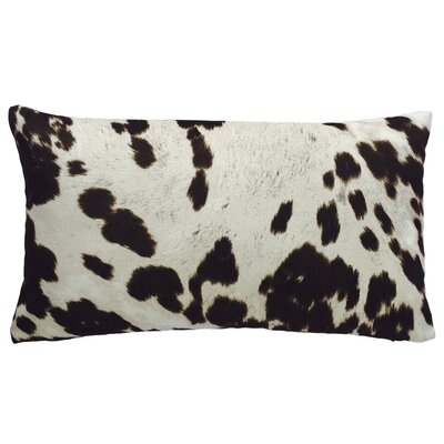Cow Abunga Faux Cowhide Lumbar Pillow Size: 12 H x 20 W, Color: Dark Brown