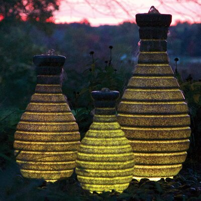 Vase Fountain With Light