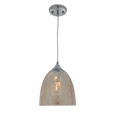 Cognac 1-Light Mini Pendant Shade Color: Cognac