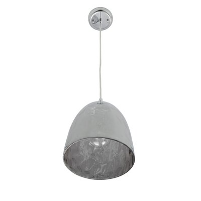 Cognac 1-Light Mini Pendant Shade Color: Chrome