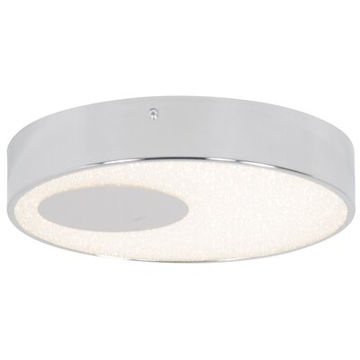 Crystalline 1-Light Flush Mount Size: 2.25 H x 12 W x 12 D