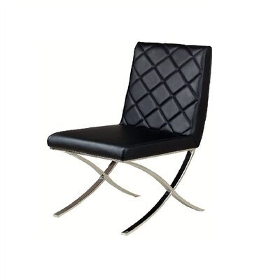 Loft Side Chair Upholstery: Black