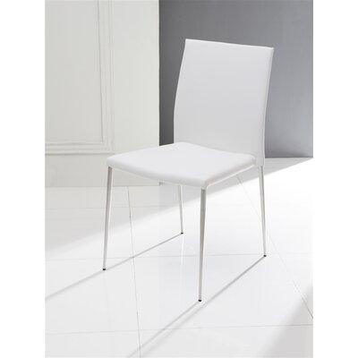 Aldo Side Chair (Set of 2) Upholstery: White