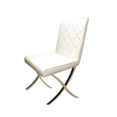 Loft Side Chair Upholstery: White