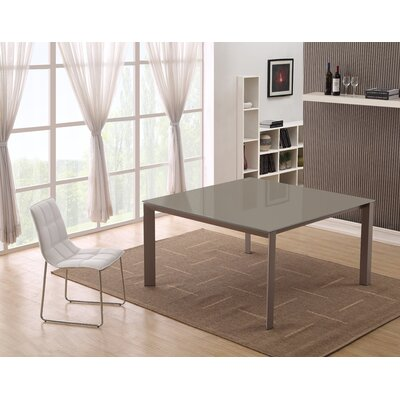 Naples Dining Table Color: Taupe