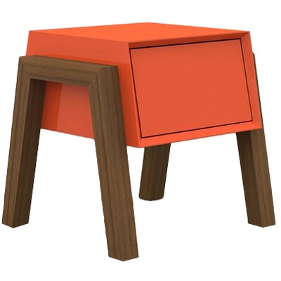 Figo End Table Finish: Orange