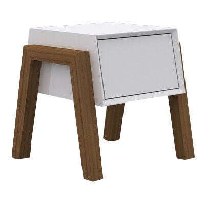 Figo End Table Finish: White