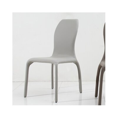 Pulse Side Chair (Set of 2) Upholstery: White Gray