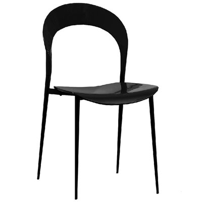 Rider Dining Chair Color: Black